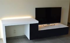 Combinatie bureel - TV meubel